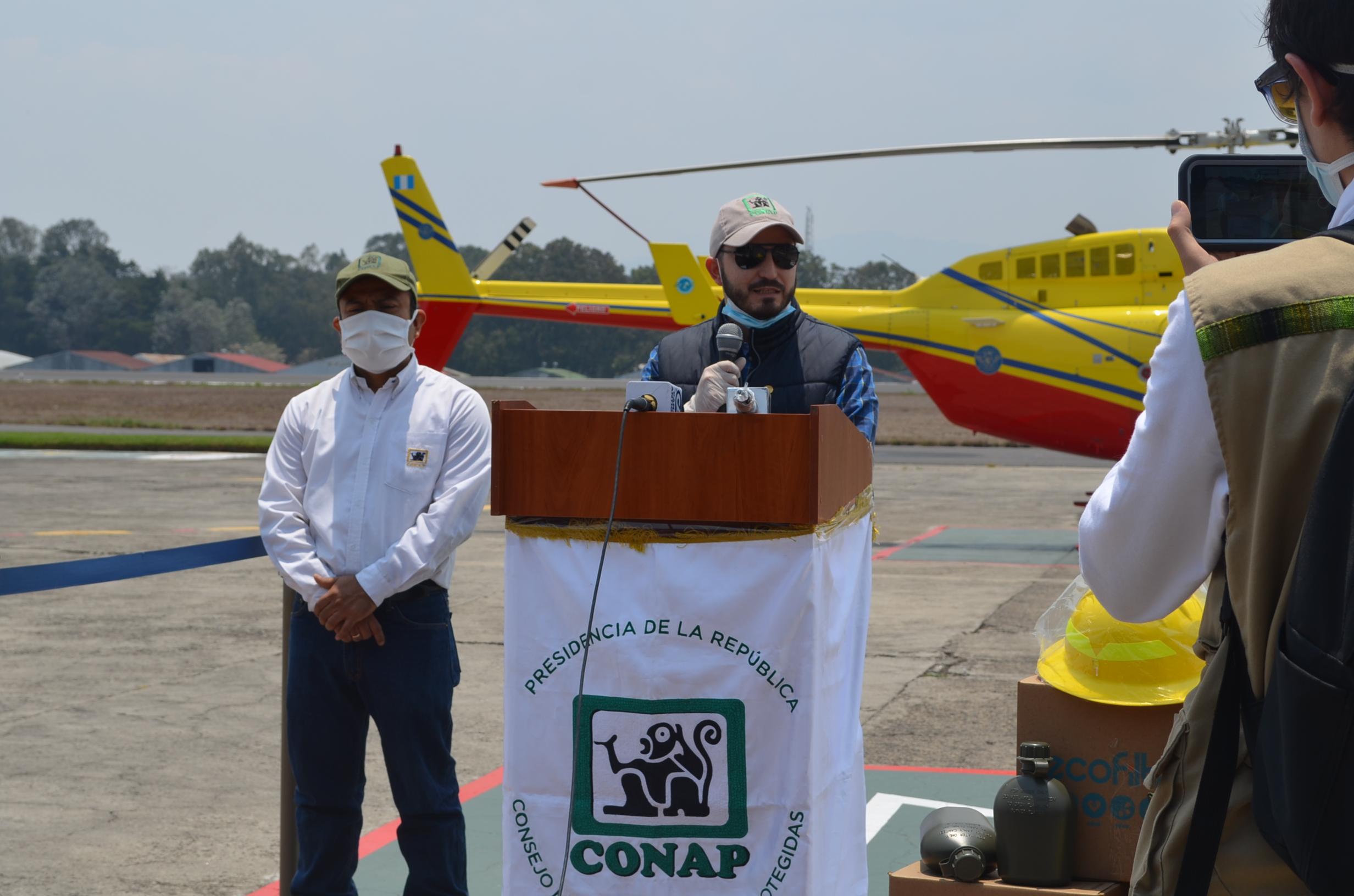 Subsecretario Ejecutivo del CONAP es designado como enlace permanente del despacho para temas de incendios forestales en Petén