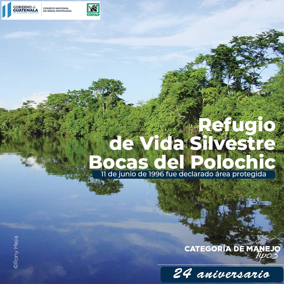 """El """"Refugio de Vida Silvestre Bocas del Polochic"""", fue declarado área protegida en el año 1996."""