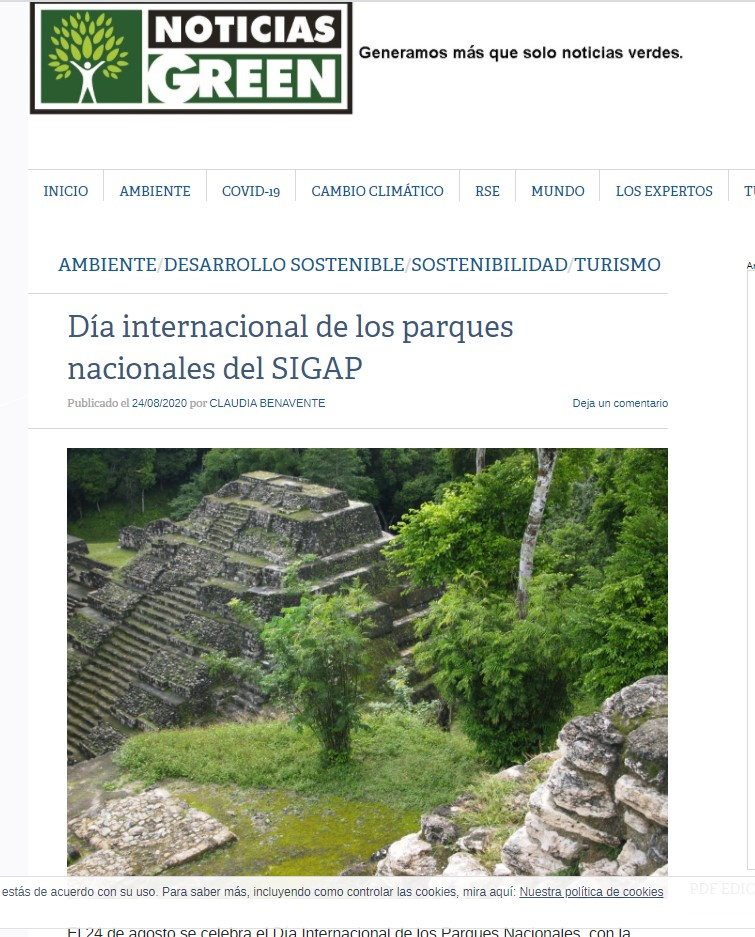 Día internacional de los parques nacionales del SIGAP