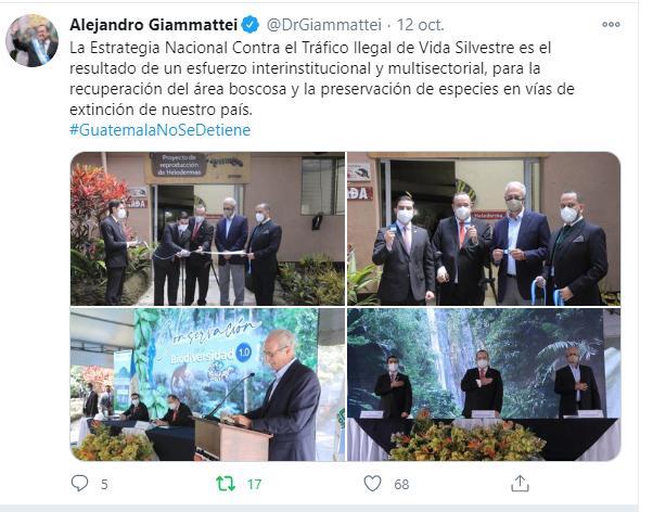 La Estrategia Nacional Contra el Tráfico Ilegal de Vida Silvestre es el resultado de un esfuerzo interinstitucional y multisectorial, para la recuperación del área boscosa y la preservación de especies en vías de extinción de nuestro país. #GuatemalaNoSeDetiene