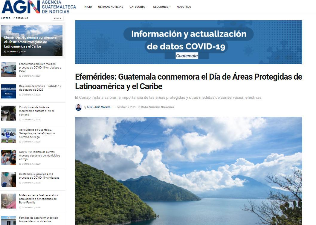 Efemérides: Guatemala conmemora el Día de Áreas Protegidas de Latinoamérica y el Caribe