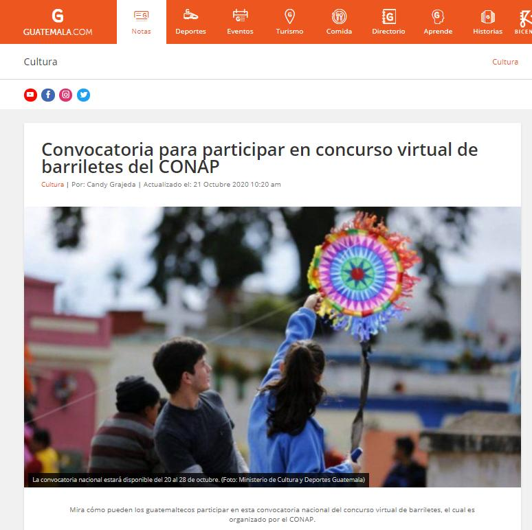 Convocatoria para participar en concurso virtual de barriletes del CONAP