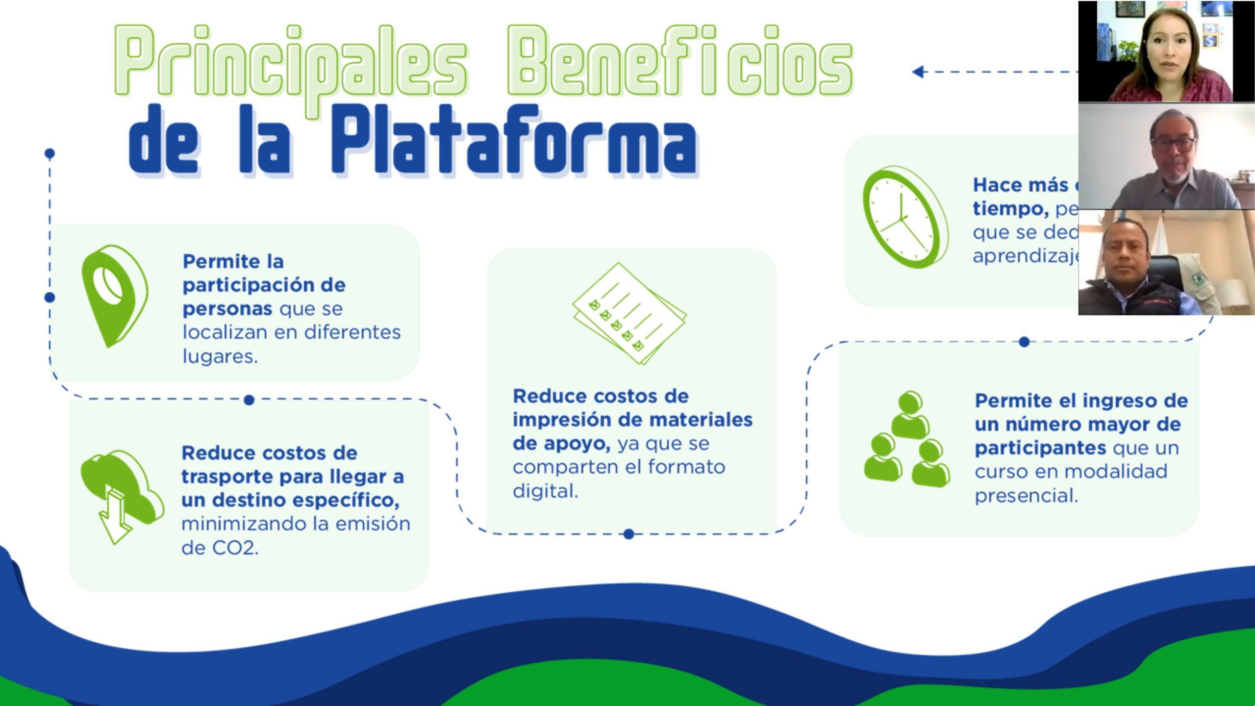 LANZAMIENTO DE LA PLATAFORMA DE CAPACITACIÓN Y EDUCACIÓN EN LÍNEA DEL CONAP